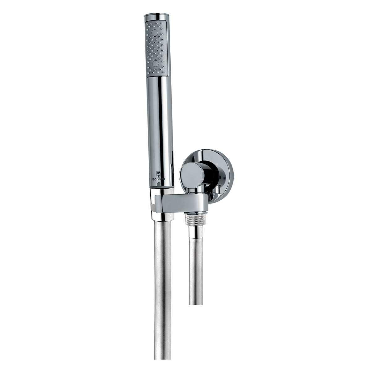 Duplex doccia Zen Bossini Supporto con presa acqua Flessibile Cromolux