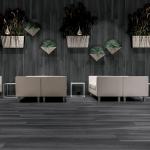Pavimento gres porcellanato Gardenia Orchidea Black 20×120 ambiente interno