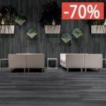 Pavimento gres porcellanato effetto legno Gardenia Orchidea Black 20×120