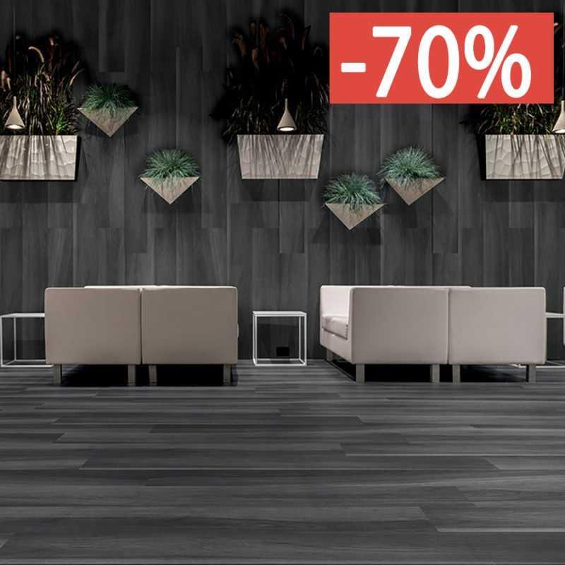 Pavimento gres porcellanato effetto legno Gardenia Orchidea Black 20x120