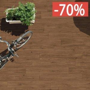 Pavimento gres porcellanato effetto legno Gardenia Orchidea Noce rosso 16x100 esterno