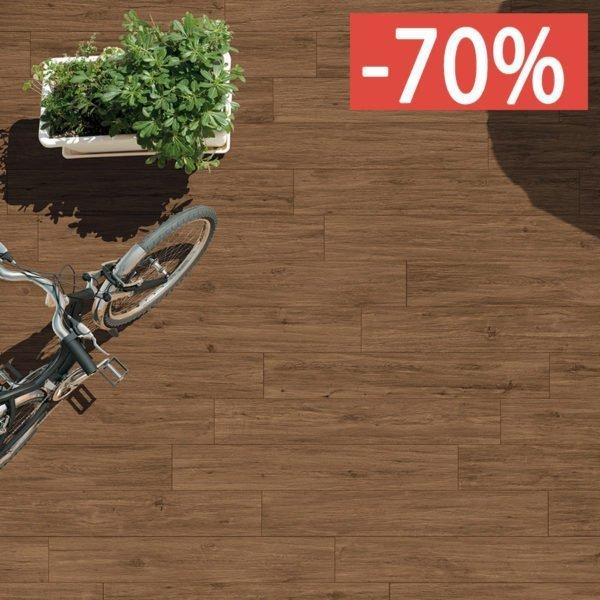 Pavimento gres porcellanato effetto legno Gardenia Orchidea Noce rosso 16×100 esterno