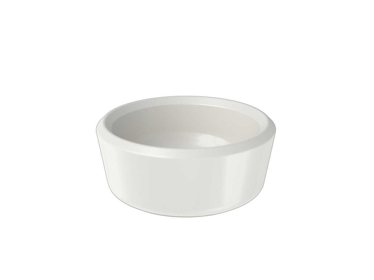 Lavabo d'appoggio rotondo bianco in ceramica 40x40 Hatria serie Pencil