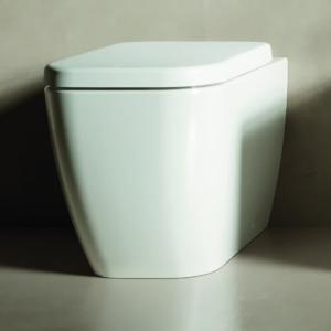 Vaso Wc filomuro a terra bianco Hatria serie Bianca 36x52