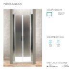 Porta a Saloon per box doccia h 190 cm Ponsi serie Gold Foto 2