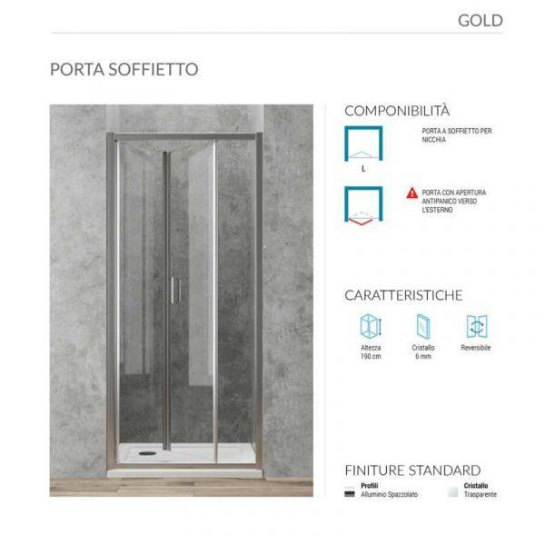 Porta a Soffietto per box doccia h 190 Ponsi serie Gold Foto 2