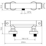 Miscelatore termostatico per doccia Ponsi Foto 2