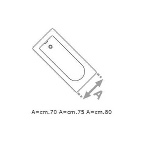 Pannello laterale vasca Calos 2.0 metacrilato 75 cm bianco lucido Foto 2