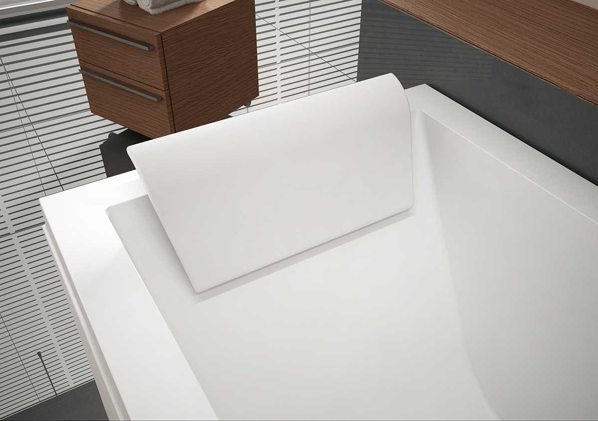 Poggiatesta bianco in Eva per vasca Calos 2.0 Novellini