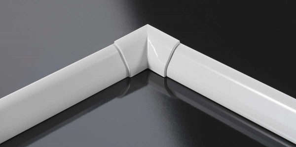 Profilo finitura vasca rigido in alluminio bianco 2 lati 185×85 Novellini