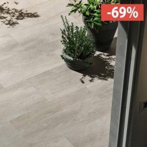 Pavimento gres porcellanato Gardenia Orchidea Grigio 40x80 esterno