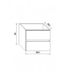 Base per lavabo integrato Ponsi serie Smile H 50 x P 45,5 x L 59,5 cm Foto 3