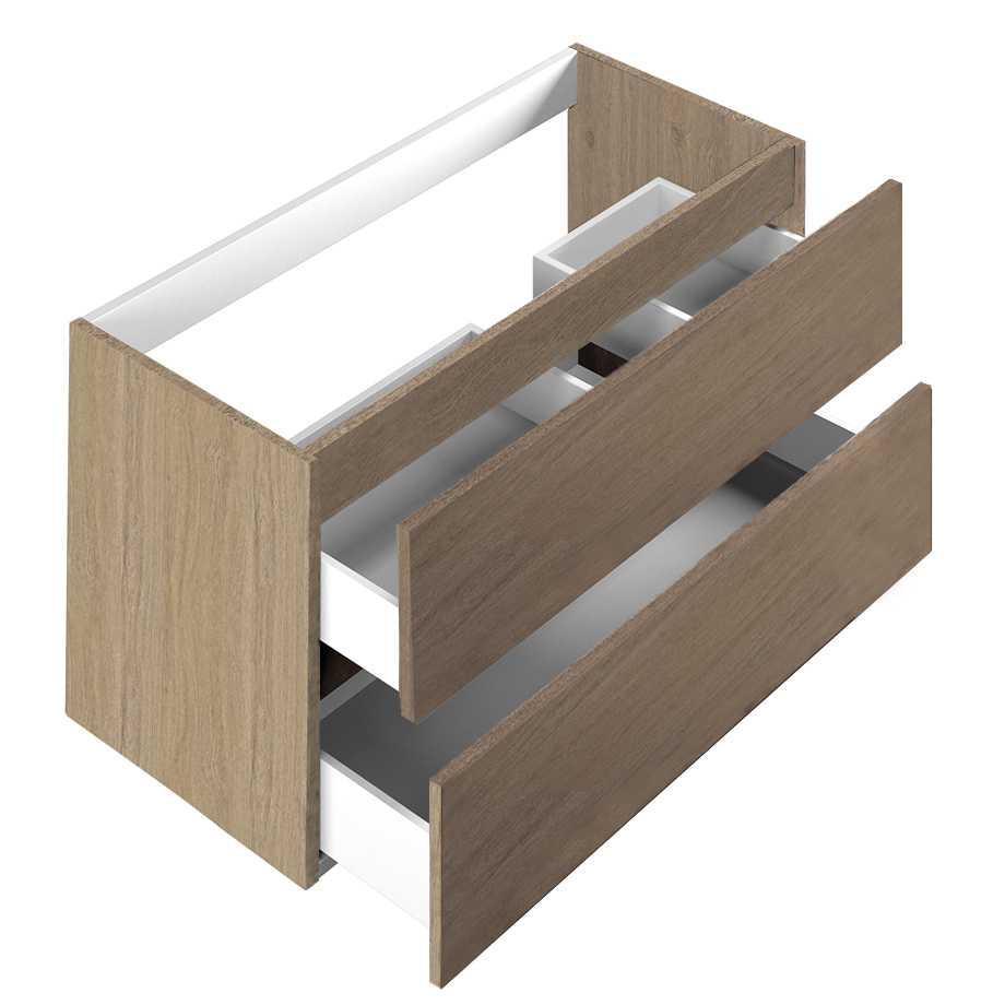 Base per lavabo integrato Ponsi serie Smile H 50 x P 45,5 x L 99,5 cm Foto 1