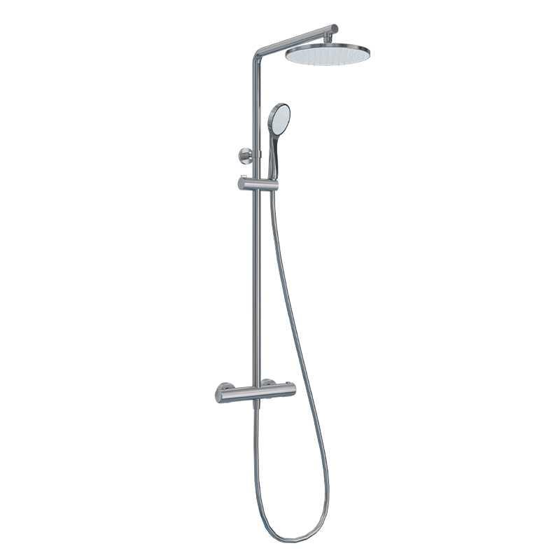 Colonna doccia Ponsi Round con mix termostatico doccetta e soffione Foto 1