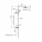 Colonna doccia Ponsi Round con mix termostatico doccetta e soffione Foto 2
