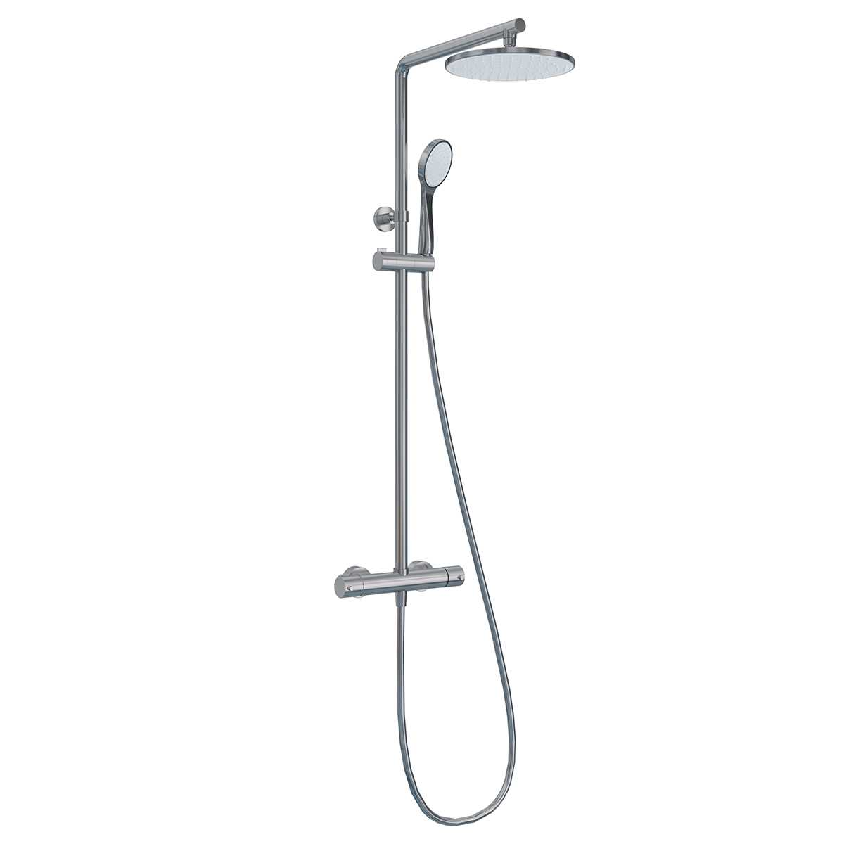 Colonna doccia Ponsi Round cromo con miscelatore doccetta e soffione Foto 1