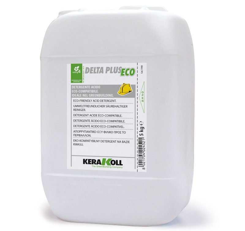 Kerakoll Delta Plus Eco 5Kg detergente acido per la pulizia da incrostazioni