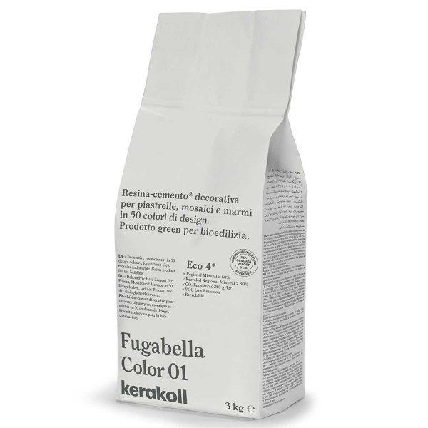 Kerakoll Fugabella Color 01 3kg stucco per fughe uso interno ed esterno
