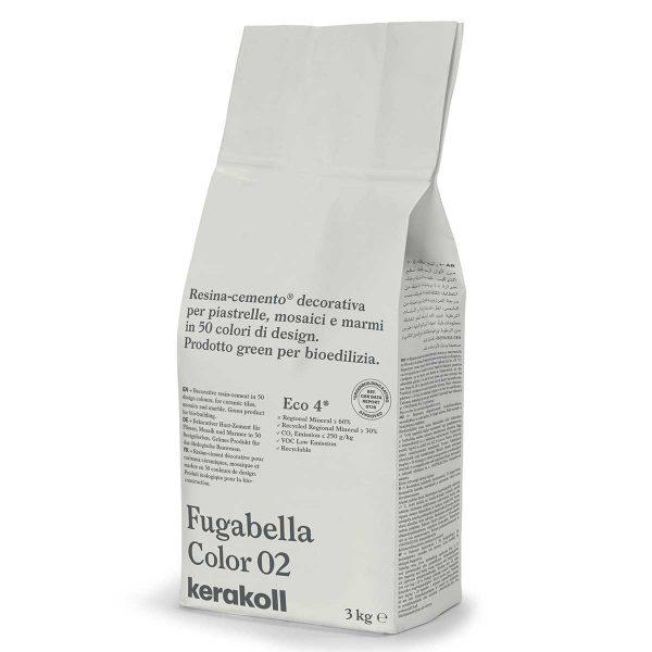 Kerakoll Fugabella Color 02 3kg stucco per fughe uso interno ed esterno