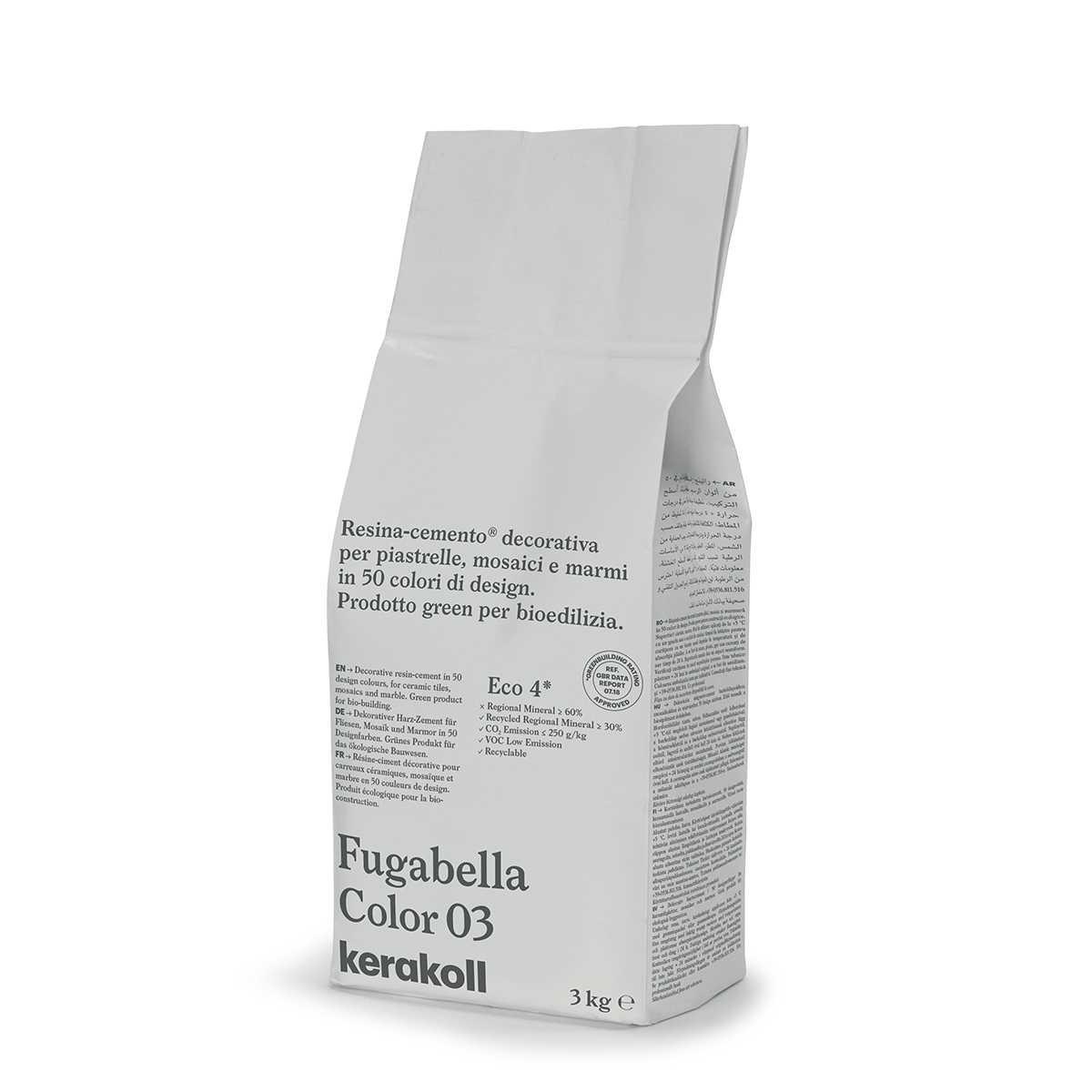 Kerakoll Fugabella Color 03 3kg stucco per fughe uso interno ed esterno