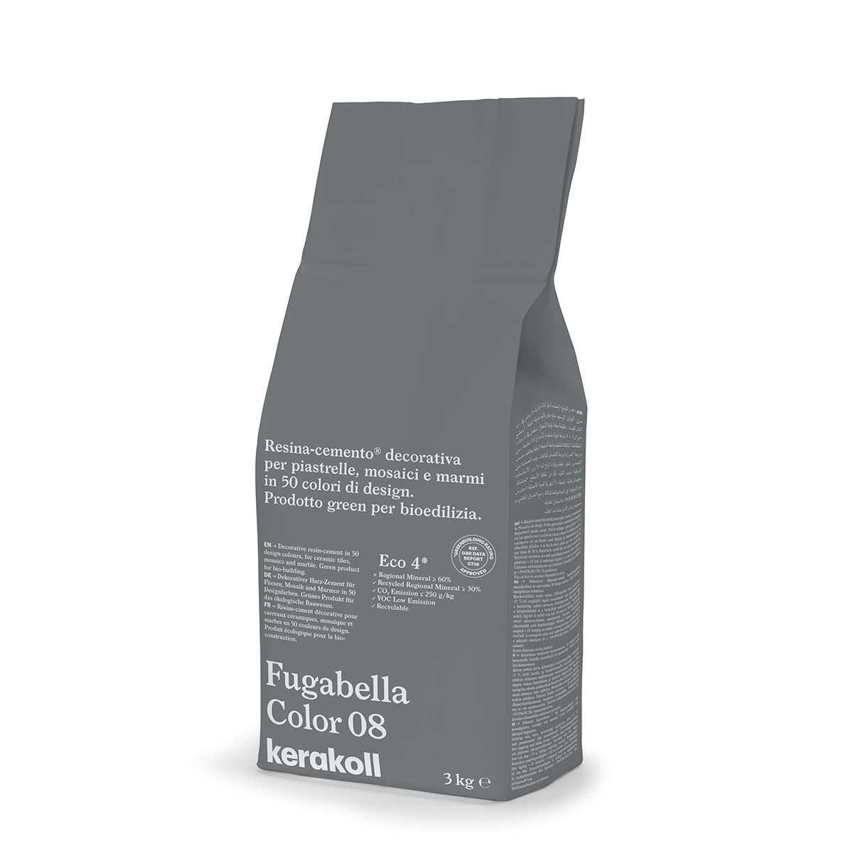 Kerakoll Fugabella Color 08 3kg stucco per fughe uso interno ed esterno