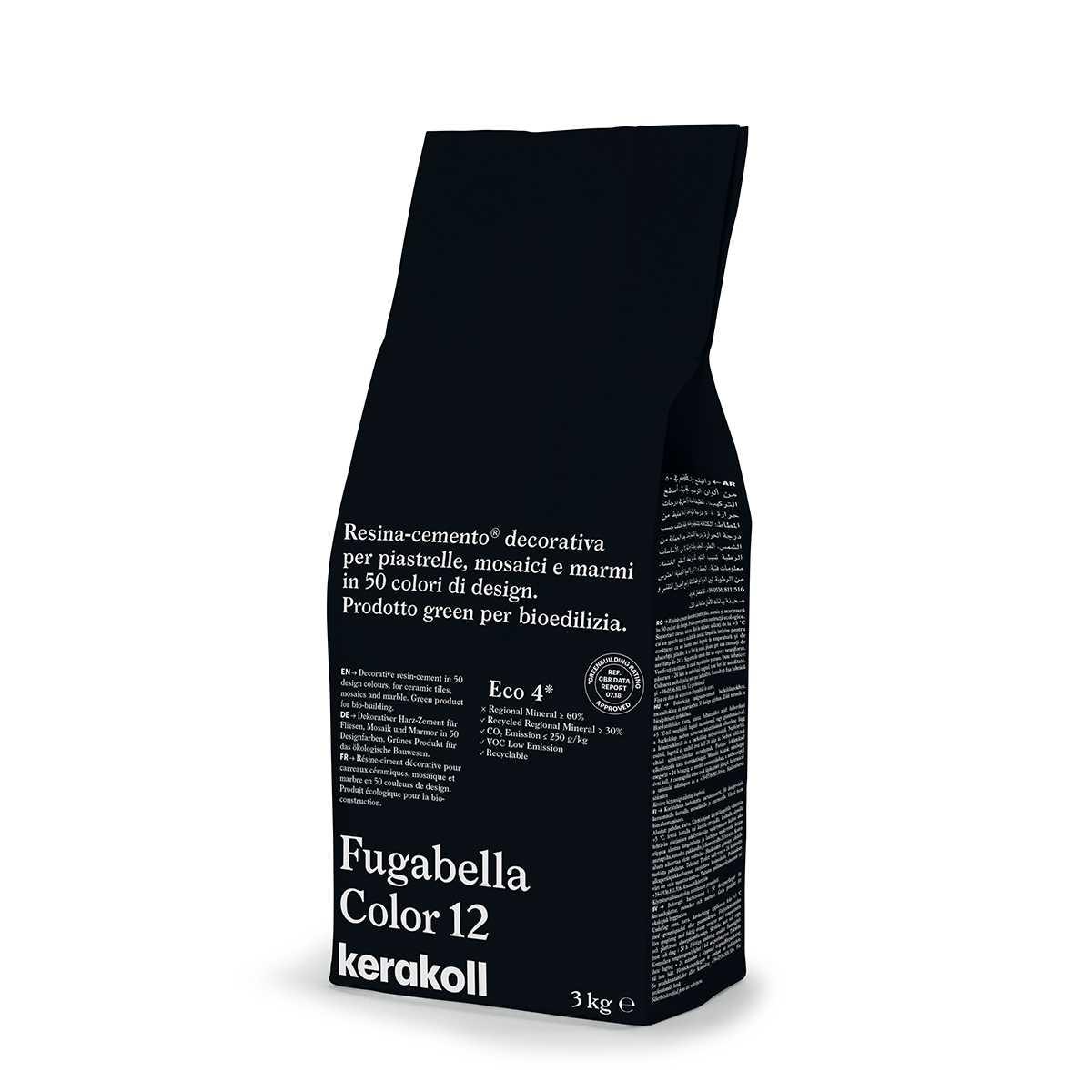 Kerakoll Fugabella Color 12 3kg stucco per fughe uso interno ed esterno