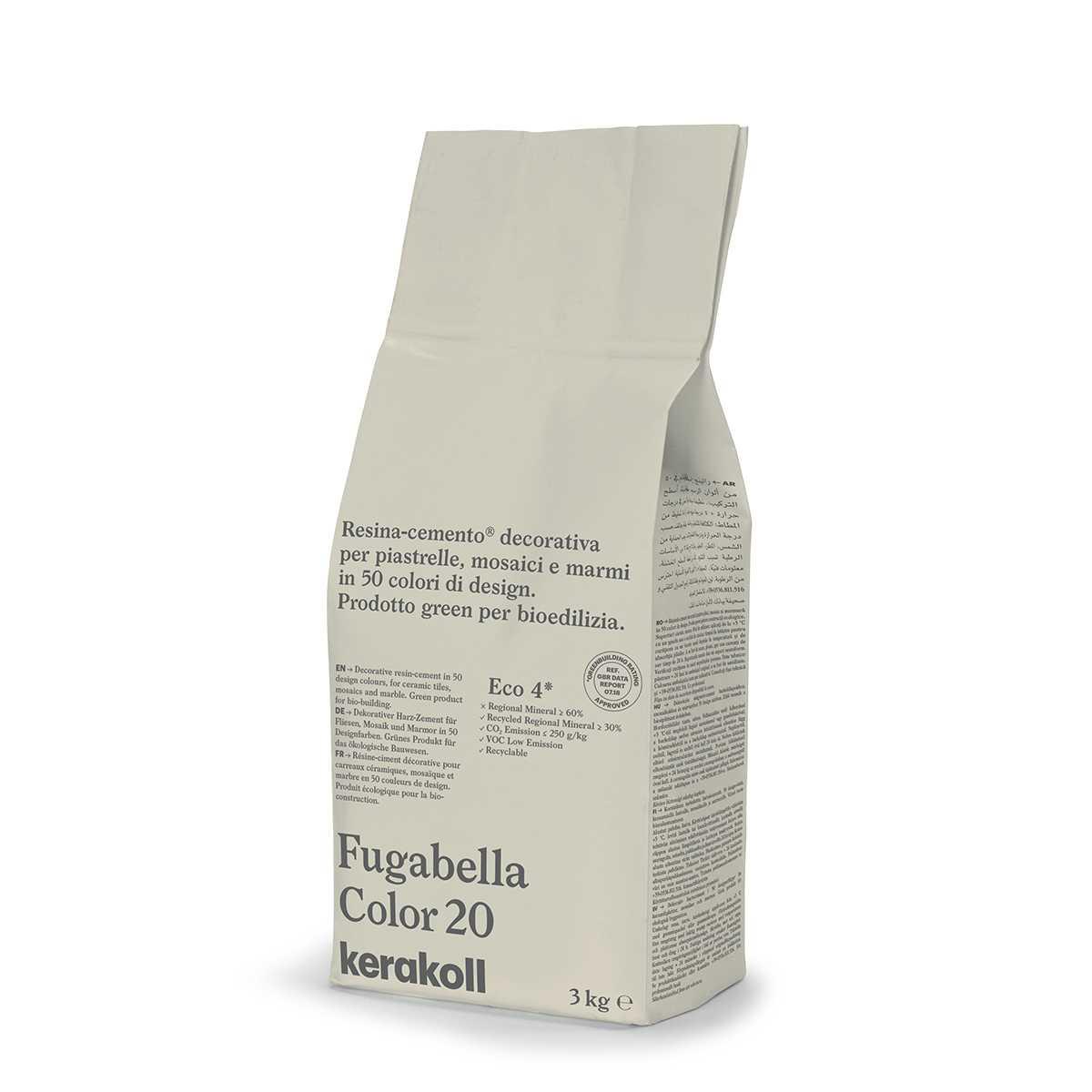 Kerakoll Fugabella Color 20 3kg stucco per fughe uso interno ed esterno