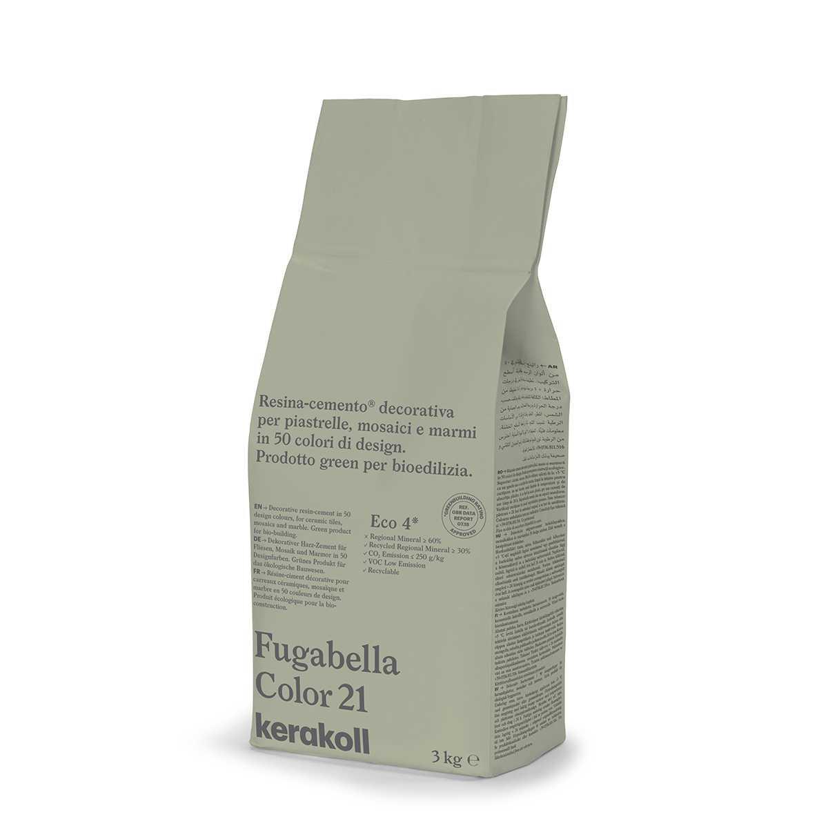 Kerakoll Fugabella Color 21 3kg stucco per fughe uso interno ed esterno