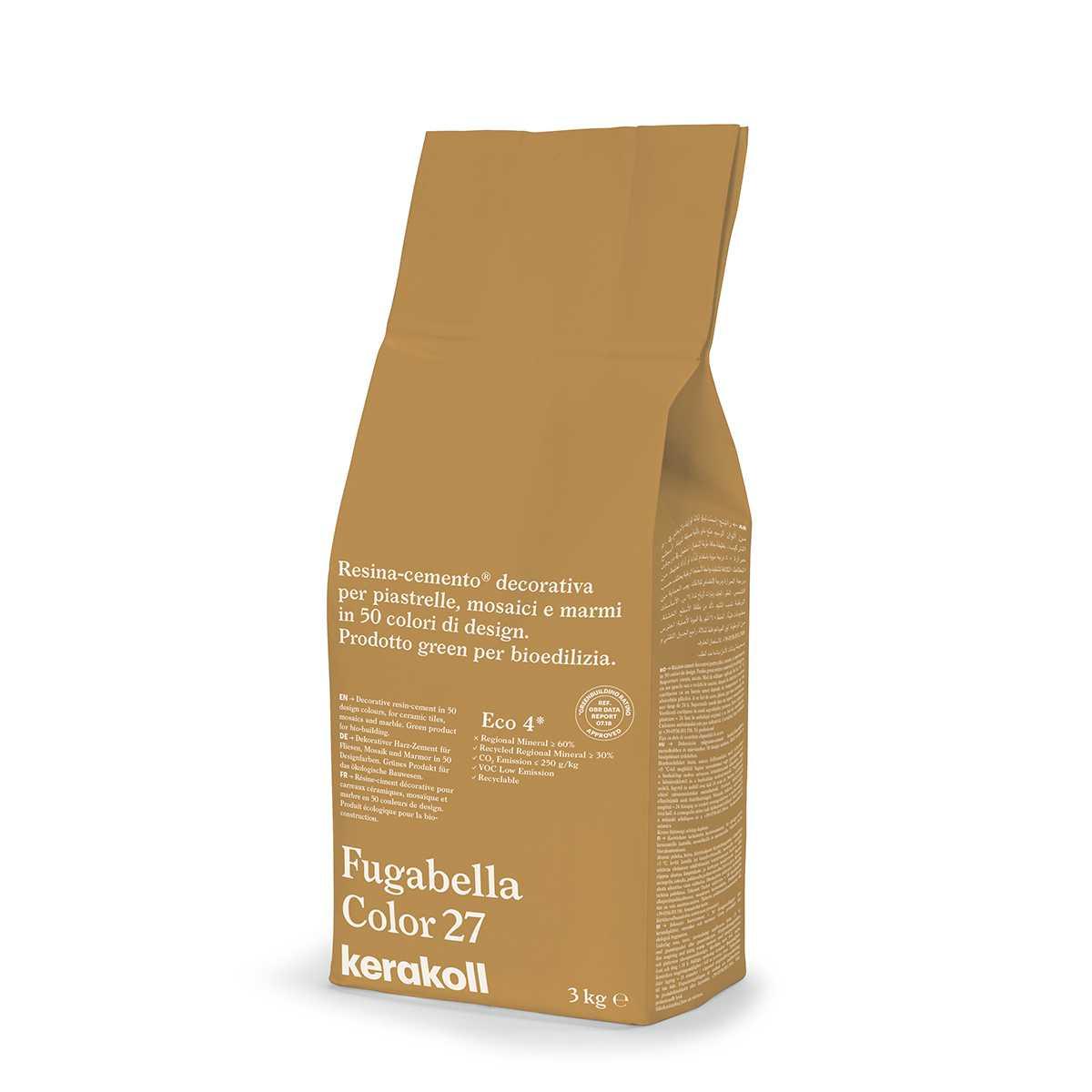 Kerakoll Fugabella Color 27 3kg stucco per fughe uso interno ed esterno