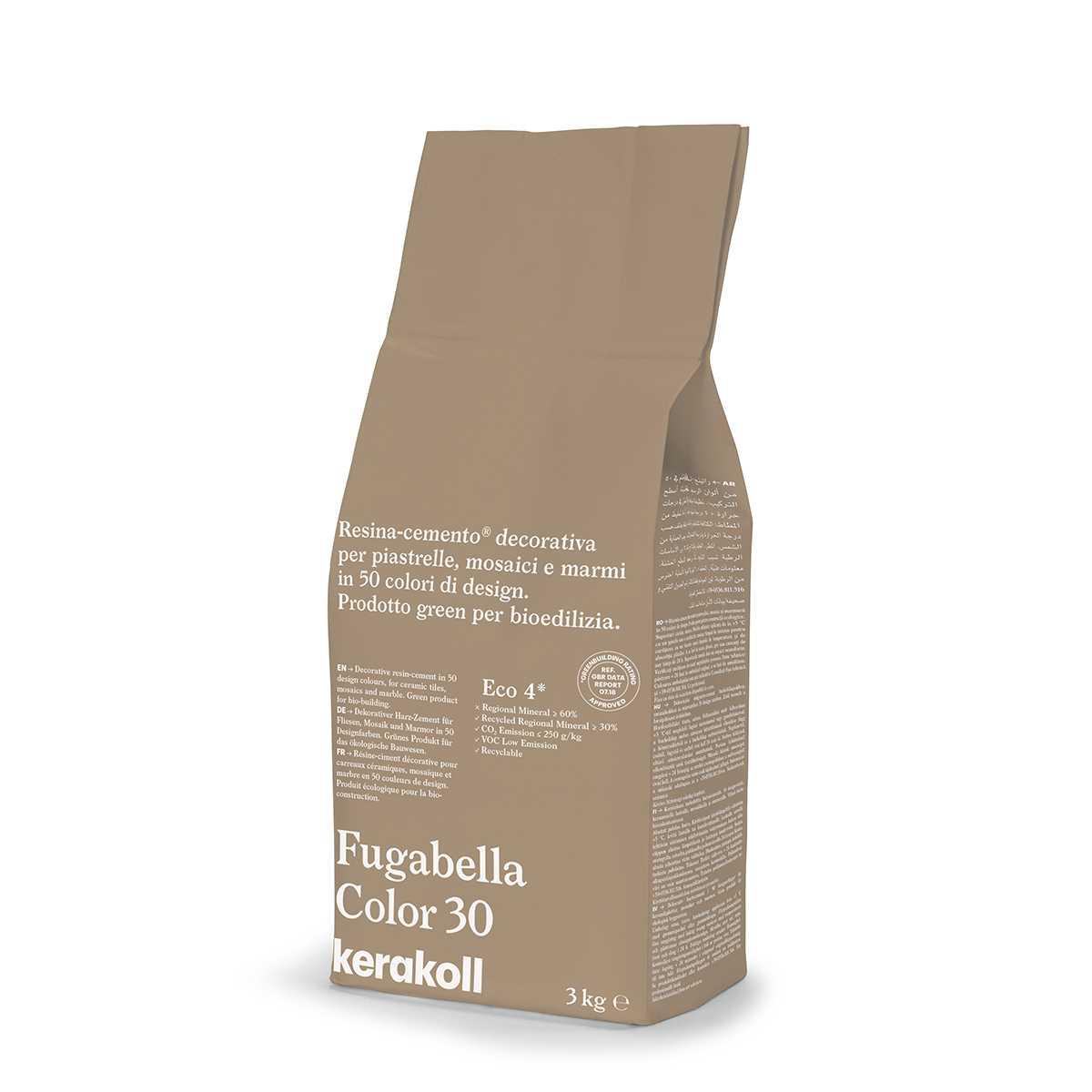 Kerakoll Fugabella Color 30 3kg stucco per fughe uso interno ed esterno