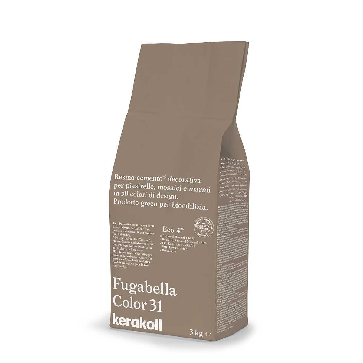 Colore Fughe Piastrelle Beige kerakoll fugabella color 31 3kg stucco per fughe uso interno ed esterno