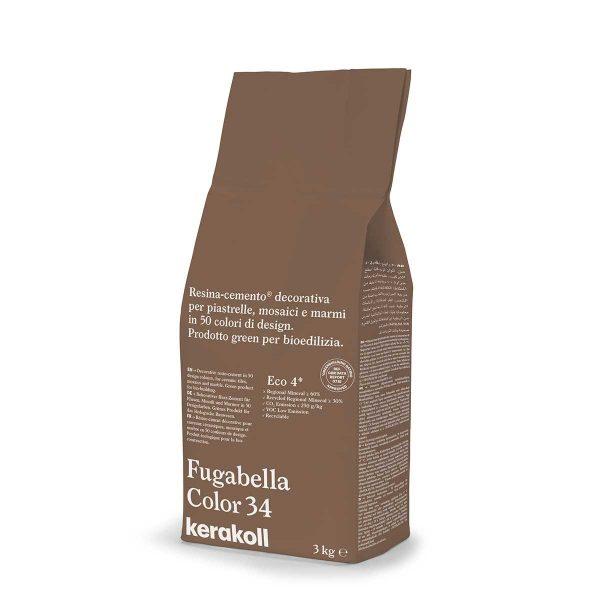 Kerakoll Fugabella Color 34 3kg stucco per fughe uso interno ed esterno