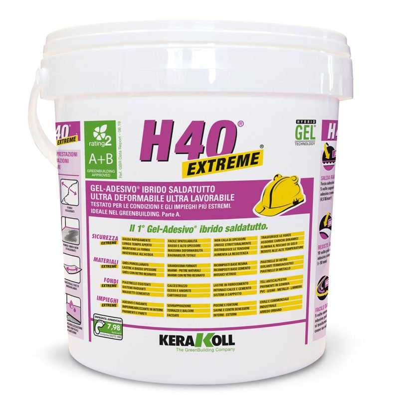 Kerakoll H40 Extreme 10 kg colla saldatutto gel adesivo ibrido