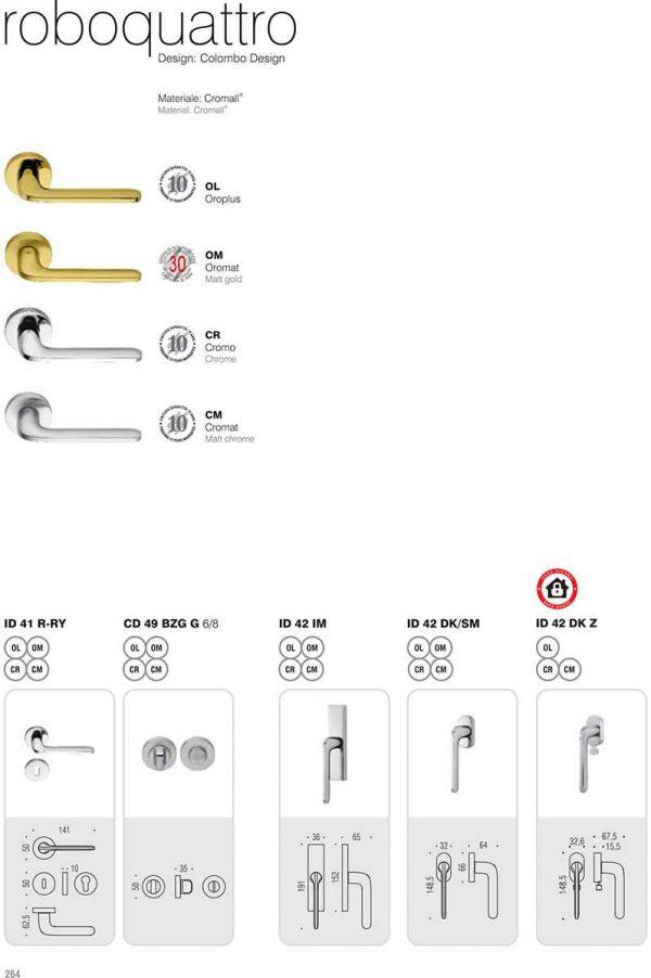 Maniglia per porta Colombo Design Roboquattro ID41 Cromo Foto 4