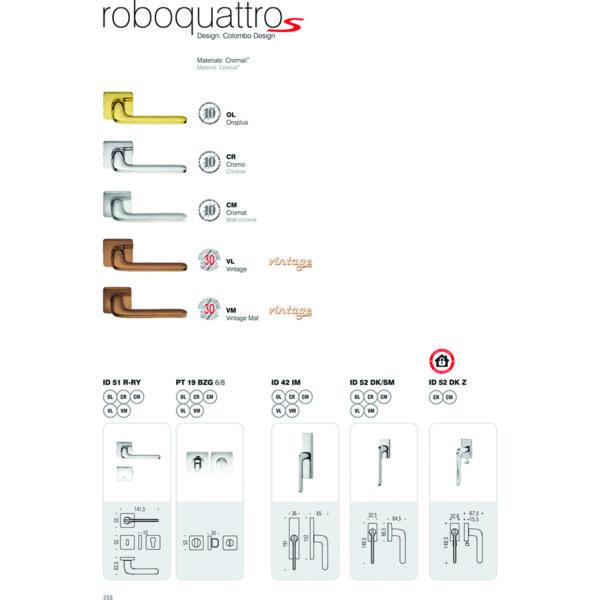 Maniglia per porta Colombo Design Roboquattro S ID51 Cromo Foto 4