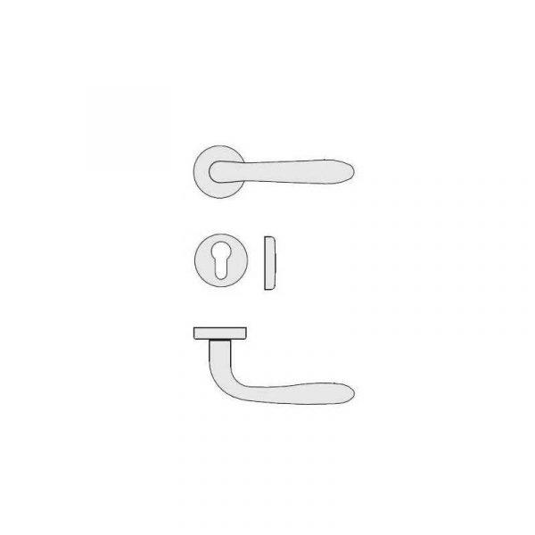 Maniglia per porta Colombo Design Robot CD41 Cromat Foto 2