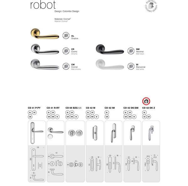 Maniglia per porta Colombo Design Robot CD41 Cromo Foto 4
