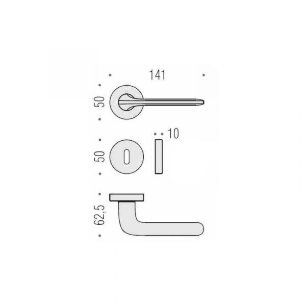 Maniglia per porta da interno Colombo Design Roboquattro ID41 Cromat Foto 2