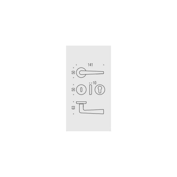Maniglia per porta da interno Colombo Design Robotre CD91 Cromat Foto 2