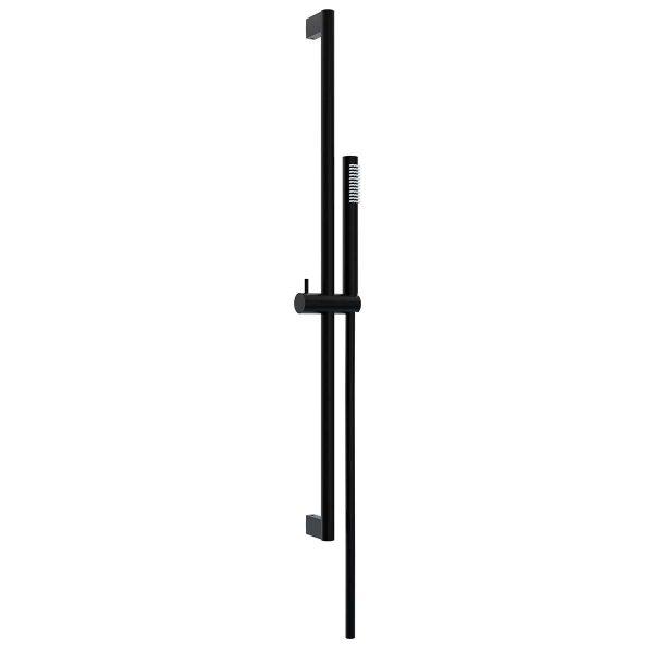 Ponsi Asta doccia Round tonda nero opaco doccetta Stick in ottone Foto 1