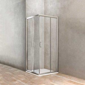 Box doccia angolare quadrato 2 porte scorrevoli 73-75 x 73-75 Ponsi Gold Foto 1