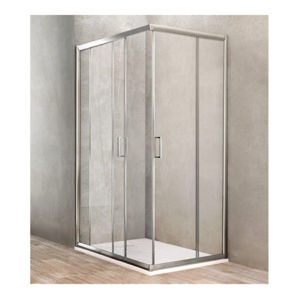 Box doccia angolare rettangolare 2 porte scorrevoli 68-70×88-90 Ponsi Gold Foto .1