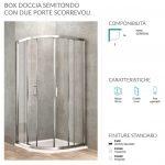 Box doccia semitondo 2 porte scorrevoli 78-80 x 78-80 Ponsi Gold Foto 2