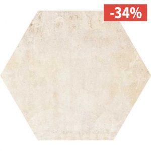 Pavimento Gres porcellanato Fioranese Ceramica Heritage Exagona Ivory.