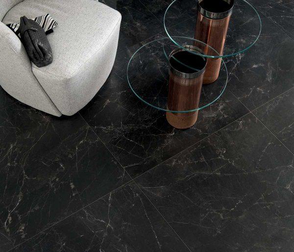 Pavimento gres porcellanato Gardenia Orchidea Infinity Black 80×80 Unique Foto 1