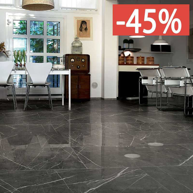 Pavimento Cerim Antique Pantheon Marble 06 80x80 6mm Naturale .