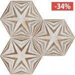 Pavimento Gres porcellanato Fioranese Ceramica Deco Exagona Texture3