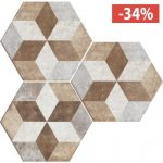 Pavimento Gres porcellanato Fioranese Ceramica Deco Exagona Texture4..