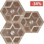 Pavimento Gres porcellanato Fioranese Ceramica Deco Exagona Texture5.