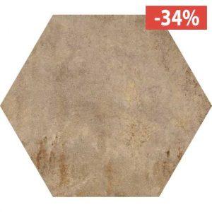 Pavimento Gres porcellanato Fioranese Ceramica Heritage Exagona Beige